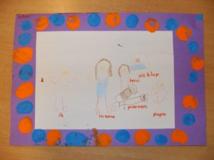 Kleurplaten Thema Familie.Familie Juf Leonie